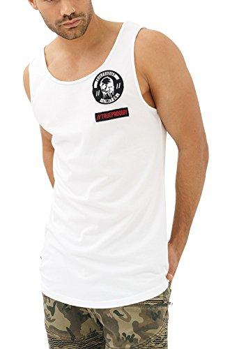 trueprodigy Casual Herren Marken Tank Top mit Aufdruck, Oberteil cool und stylisch mit Rundhals (Ärmellos & Slim Fit), Muscle Shirt für Männer in Bedruckt, Größe:XXL, Farben:Weiß