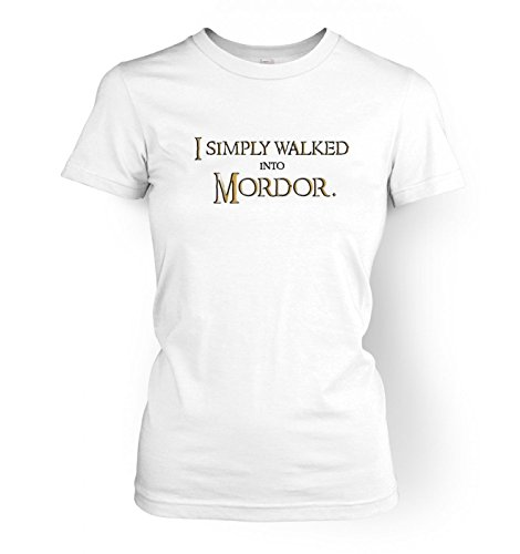 Gold WoHerren I simply walked into Mordor t-shirt Weiß