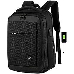 """ZXSJKYHY Business Sac à dos pour ordinateur portable 15,6"""" avec chargement USB et prise jack de tête de lit, convertible, étanche multifonction, sac à dos pour ordinateur portable 14 x 30 x 42 cm Noir"""