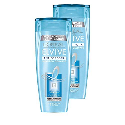 L \'Oréal Paris Elvive ANTI-SCHUPPEN-SHAMPOO empfindliche für alle Haartypen, 3Packungen von 2x 300ml, insgesamt: 1800ml