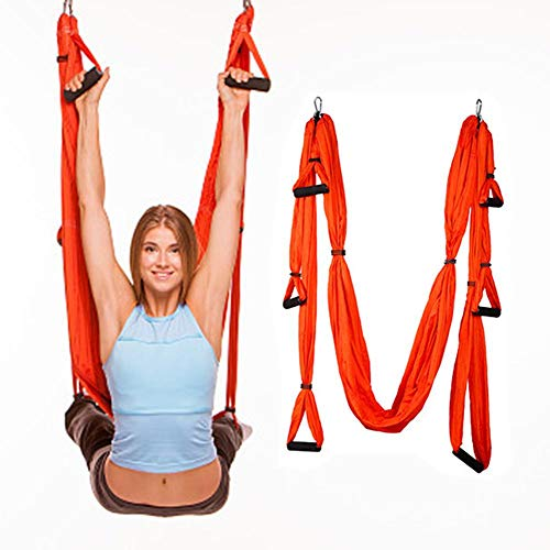 Yoga Trend Mark Yoga Stretch Belt Extender Strap Rope Daisy For Aerial Yoga Hammock Swing Anti-gravity Extend Yoga Belts