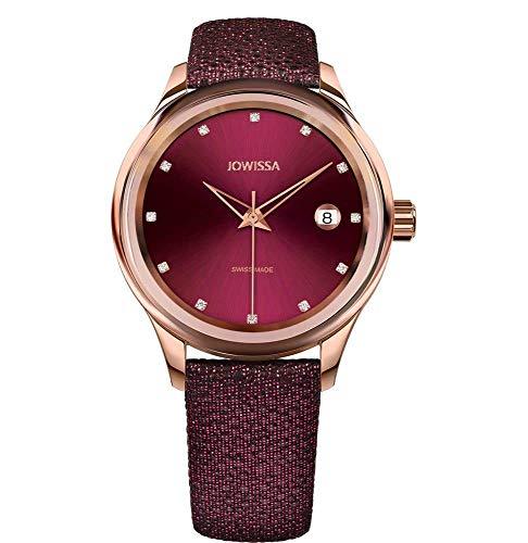 Jowissa Tiro Swiss J4.363.M - Reloj de Pulsera para Mujer, Color Burdeos y Rosa