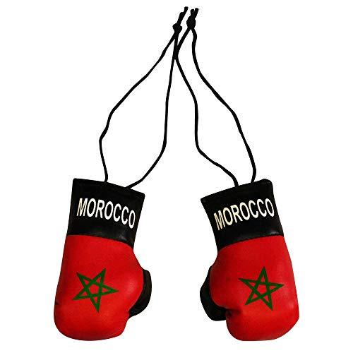 Marokko (Maroc Flagge) Mini-Boxhandschuhe für Zuhause oder Auto