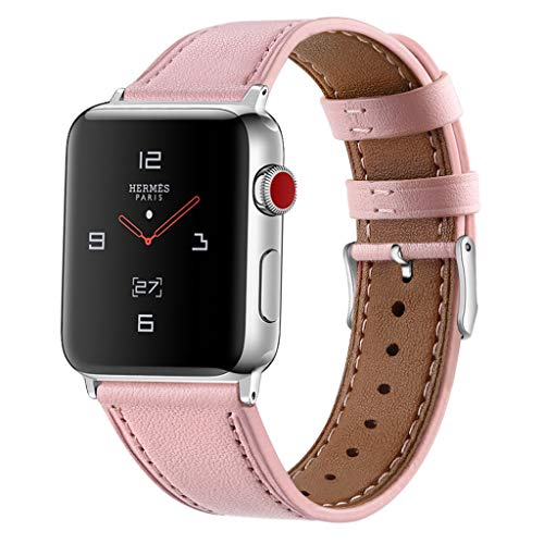 htfrgeds Compatible/Replacement for Apple Watch Armband Uhrenarmband 42 / 44mm Grobe Textur Ersatz Lederarmband Sport Kompatibel i Watch Series 1 Series 2 Series 3 Series 4 (B) (Apple Watch Sport Collection)