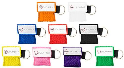 Beatmungstuch Schlüsselanhänger Taschenmaske CPR-Tuch für den Schlüsselbund (rot)