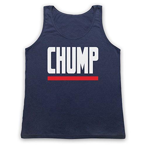 Chump Funny Slogan Tank-Top Weste Ultramarinblau
