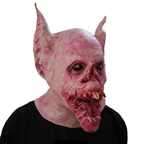 YKQ WS Halloween Horror Grimasse Scary Maske Zombies, Prom Party Karneval Requisiten Dekoration (Farbe : Bat Monster)