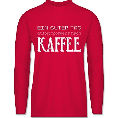 Shirtracer Küche - ein Guter Tag Duftet Morgens Nach Kaffee - Herren Langarmshirt Rot