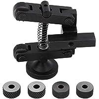 Herramienta moleteada ajustable de acero al carbono, 6 ruedas, torno lineal, soporte moleteado, rueda moleteada, diámetro de la figura: 0,8 mm, 1,2 mm, 1,2 mm