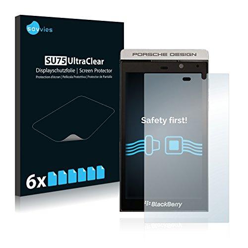 Savvies Schutzfolie kompatibel mit BlackBerry P9982 Porsche Design (6 Stück) - ultraklare Bildschirmschutz-Folie