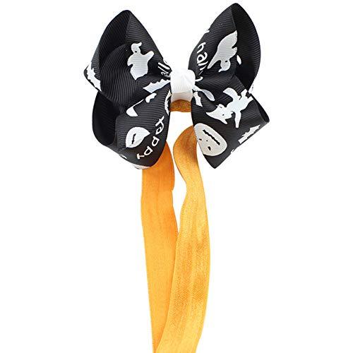 SEWORLD Baby Halloween Kleidung,Niedlich Baby Mädchen Halloween Stirnband Bogen Elastisches Haar Kopf Hairband Fotografie-Stützen(C-schwarz,6 Monate-3 Jahren)