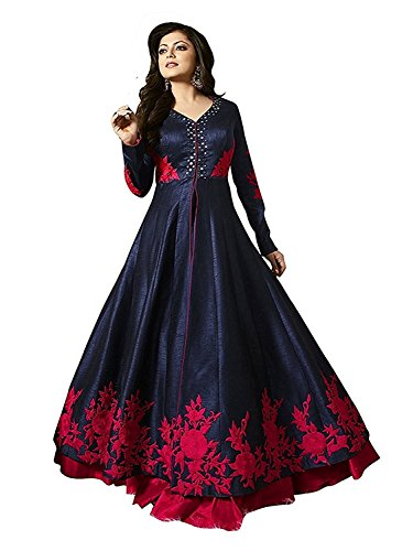 476ba9ad0c2f56 52% OFF on Morang Women's Gown Latest Party Wear Designer Net silk  Embroidery Semi Stitched Free Size Salwar Suit Dress Material Available On  Sale on Amazon ...