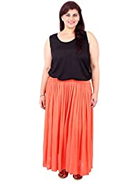 Orange Cotton Tutu Skirt_LIBO719_