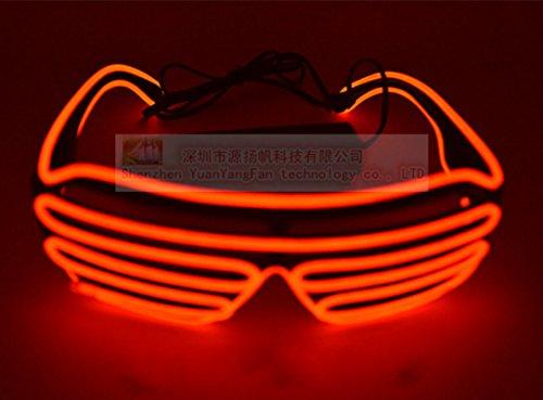 skjiji Tricks beleuchtet Neon Electroluminescent EL Draht LED Brille ...