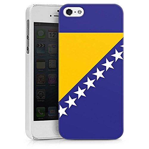 Apple iPhone X Silikon Hülle Case Schutzhülle Bosnien Flagge Fußball Hard Case weiß