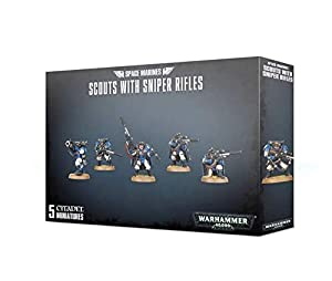 Warhammer+40k+.+-+Space+Marine+Scout+avec+Fusils+de+Snipers+Squad