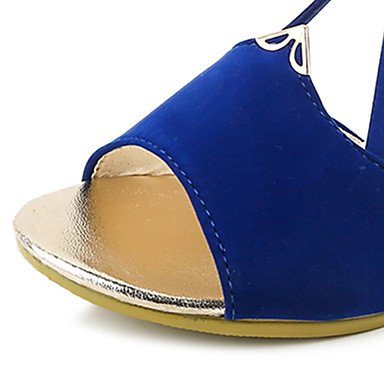 LvYuan Sandali-Formale Casual-Comoda-Zeppa-PU (Poliuretano)-Nero Rosso Blu reale Royal Blue