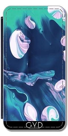 Leder Flip Case Tasche Hülle für Apple iPhone SE - Meeresboden by les caprices de filles
