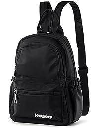 6f95b0df2d234 Damen Rucksack Mädchen Mini Backpack Frauen Klein Rücksack Nylon  Tagespackung Wasserdicht Cabrio Schulter Gurt Brusttasche Schlinge…