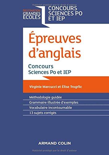 Epreuves d'anglais : Concours Sciences Po et IEP par Virginie Marcucci