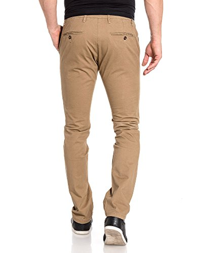 BLZ jeans - Pantalon homme chino camel 5 poches Beige