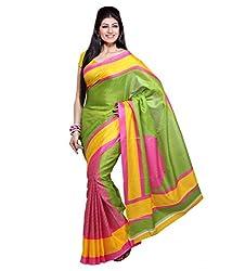 Buyonn Women's Cotton Silk Saree (SAREES3_Multi-Coloured_Free Size)