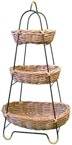 3-Tier-Wicker Gemüse Rack - Obstkorb Drei Level