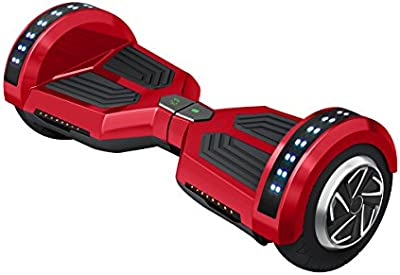 Freeman F12 - Patinete electrico de 250W con bateria Samsung con certificado UL2272, altavoz de 3W, ruedas de 8, color Rojo