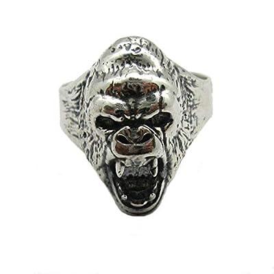 Bague en argent massif 925 Gorille R001838 Empress
