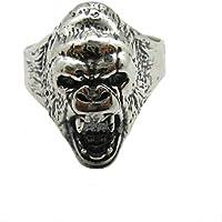 Anello da uomo in argento massiccio 925 Gorilla R001838