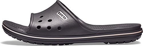 crocs Unisex-Erwachsene Crocband 2 Slide Badeschuhe Grau (Slate Grey/white)