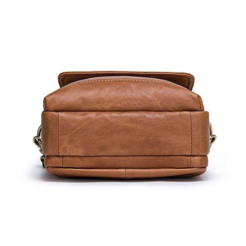 "Contacts Echtes Leder Mens 9"" Mini iPad Messenger CrossBody Tasche Tote Handtasche (Braun) Braun"