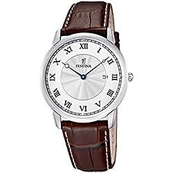Festina F6813/5 - Reloj analógico de cuarzo para hombre con correa de piel, color marrón