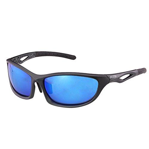 Duco polarisierte Sonnenbrillen fürs Angeln Golf Outdoor Sportaktivitäten bruchfeste Sonnenbrille für Frauen und Männer TR90-Rahmen 6211