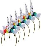 Bada Bing 6er Set Haarreif Einhorn Unicorn Magic Verkleiden Kindergeburtstag Karneval Für Kinder und Erwachsene JGA Mitbringsel 684