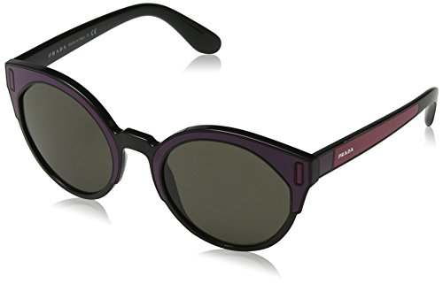 Prada Damen 0PR03US SSA5S2 53 Sonnenbrille, Schwarz (Black/Bordeaux/Fuxia/Brown),