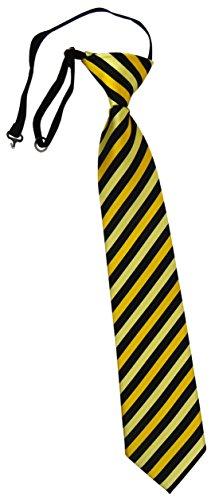 TigerTie Security Sicherheits Krawatte in gold gelbgold schwarz gestreift - vorgebunden mit Gummizug