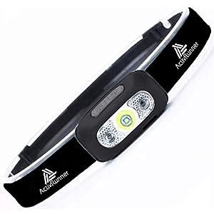ActivRunner USB wiederaufladbare Scheinwerfer für Laufsport, Kopflampe, Lauflicht, Stirnlampe Led, Scheinwerfer…