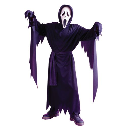 4 Scream Kostüm Kind - Unbekannt Scream 4 Movie Childs Ghost Face Up to 12 Yrs Halloween Fancy Dress Size