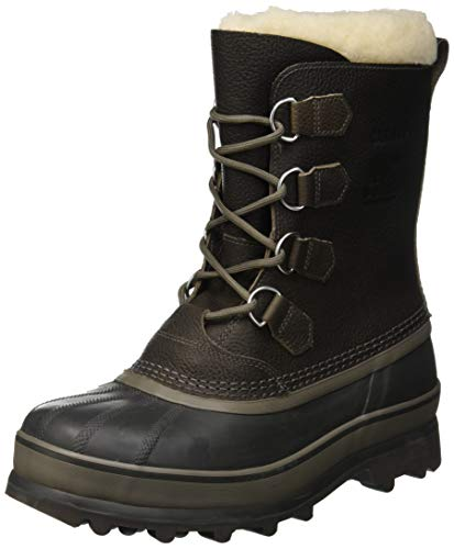 Sorel Herren Caribou WL Boots, grau quarry)/dunkelgrau (buffalo), Größe: 46