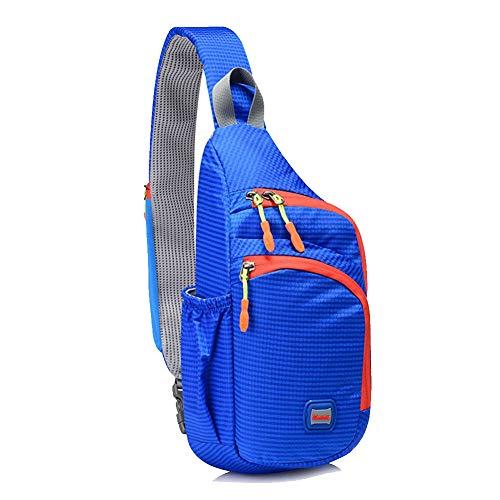 Lightweigh Sling Bag Wasserdichte Schulter-Tagesrucksäcke Casual Crossbody Rucksack für Outdoor Reisen Wandern Arbeiten Radfahren Brusttaschen Herren Damen, Blau