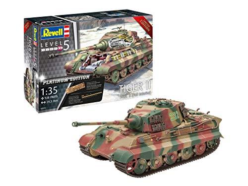 Revell 03275 Königstiger Tiger II AUSF. B-Full Interior, Panzer in der Platinum Edition, inkl. Fotoätzteile, Sonderauflage, Größe 1:35/29,3 cm, Level 5 für Experten 14 Modellbausatz