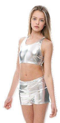 Ladies Girls All Colours Metallic Dance Fitness Sports Gym Hot Pants Shorts KHPM-5 By Katz Dancewear