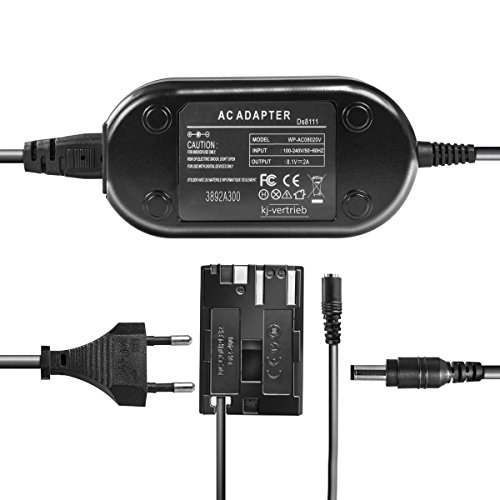 kj-vertrieb Netzteil mit Akkuadapter für Canon EOS 5D, 10D, 20D, 30D, 40D, 50D, 300D, D30, D60 - ersetzt ACK-E2, DR400-8,1V 2A