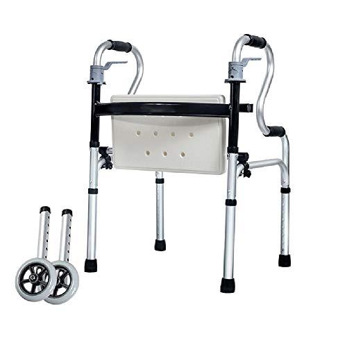 Deambulatore   Rollator Pieghevole   Regolabile   Con Sedile E Ruota   Per Gli Anziani Disabili   Superficie Liscia Facile Da Pulire