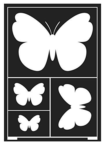 Kreul 74851 - Window Style Schablone Schmetterlinge A5