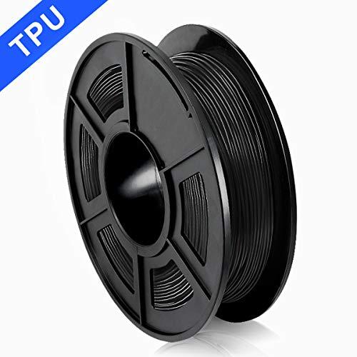 3D Printer Filament TPU,TPU Filament 1.75 mm SUNLU,Low Odor Dimensional Accuracy +/- 0.02 mm 3D Printing Filament,1.1LBS (0.5KG) Spool,Black TPU