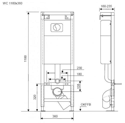 NMT, WC Vorwandelement mit Betätigungsplatte, Schallschutzset und Testpäckchen WC-Reinigertabs