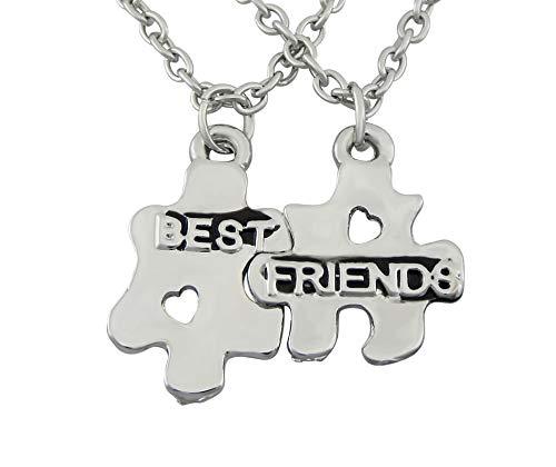 veuer ragazza gioielli amicizia catena 2collane Best Friends Puzzle migliore amico regalo da Natale per le donne, Fidanzata, matrimonio della Do