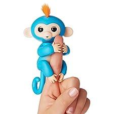 Fingerlings ouistiti bleu bébé singe interactif de 12cm